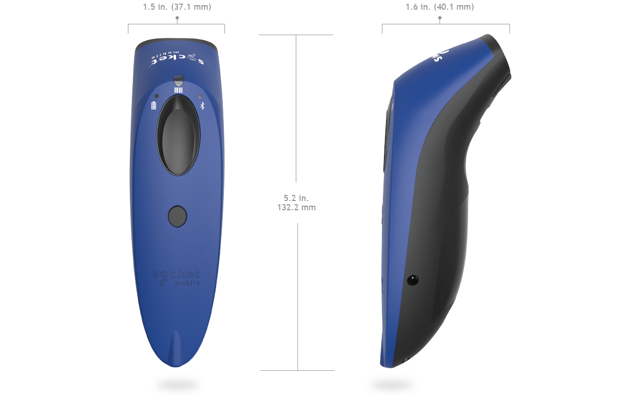Socket Bluetooth 1D Barcode Scanner - BLUE