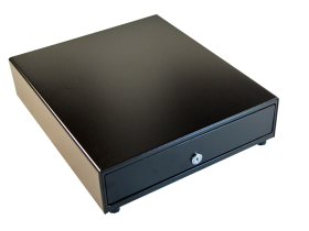 APG: Cash Drawer - 4 Bill/5 Coin (Black Front) - 24V